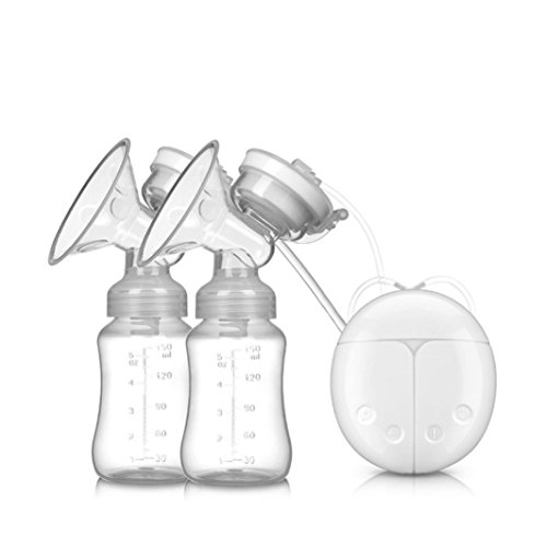 Gaddrt Bébé tire, USB double intelligent breast mamelon pompe d'aspiration kit (Blanc)