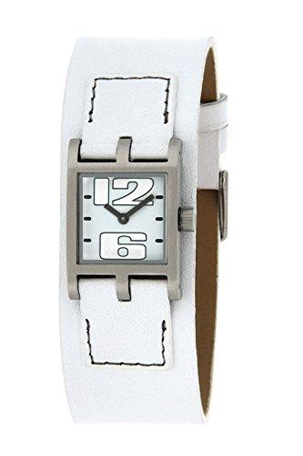Bruno Banani BR21068–Women's Wrist Watch, Leather Strap White