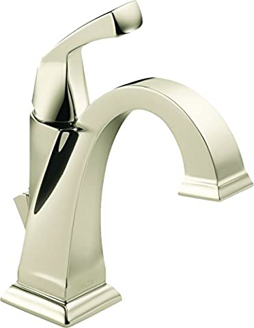 Delta Faucet 551-PN-DST Dryden Single Handle Centerset Lavatory Faucet, Polished
