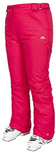 Trespass Lohan, Raspberry, XL, Wasserdichte Skihose mit Seitenbelüftung für Damen, X-Large, Rosa/Pink