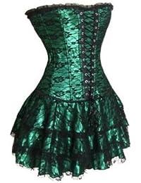 Autek 30009 Sexy Lolita vert Corset/lingerie avec la jupe pour porter la robe de mariée/Soirée/Cérémonie