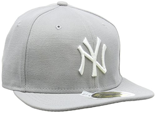 New Era New Era Kinder Baseball Mütze Mlb Basic NY Yankees 59Fifty Fitted, Grau (Grey/White), 6 1/2, 10879080
