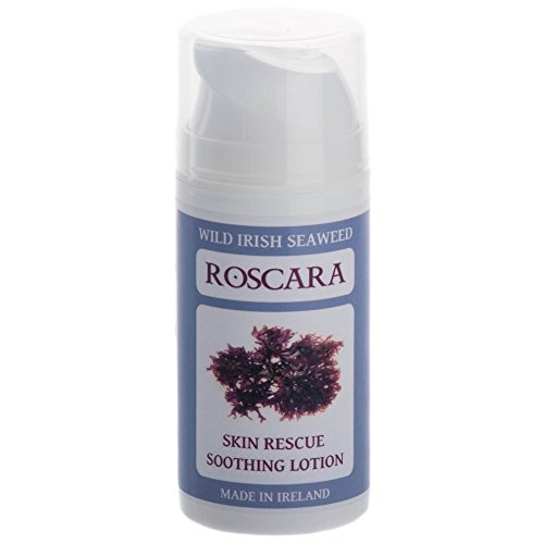 Roscara Soothing Seaweed Lotion...Natural Treatment for Psoriasis, Eczema, Rosacea, Acne and Itch. Inspired by an Ancient Irish Remedy...Provides Relief For All Common Skin Conditions. Organic. Chemical and Fragrance Free. Suitable for Vegetarians and Vegans. Safe for All the Family. 100% Animal Cruelty Free. Money Back Guarantee.