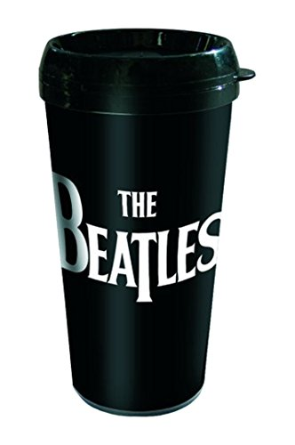 Empireposter – Beatles, The – Drop T – Taille (cm), env. Ø 9 H17 – Gobelet de voyage neuf – Beatles Travel Mug : Drop T – Description : – Tasse Double Paroi en plastique, conique, fond Ø6 cm. Capacité : env. 450 ml avec couvercle -