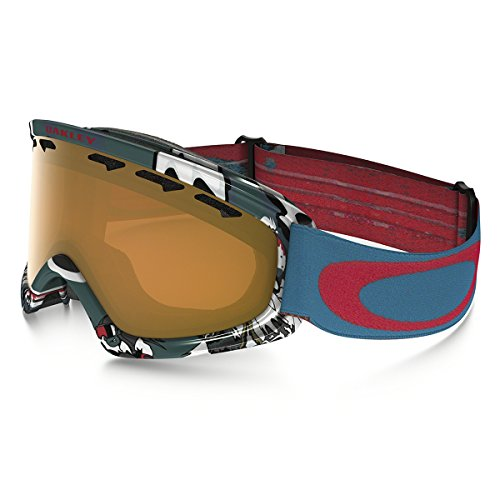 Oakley Uni O2 Xs 704808 0 Sportbrille, Blau (Shady Trees Bluee Red/Persimmon), 99