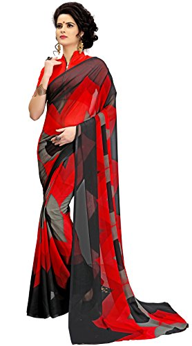 Navya Georgette Saree With Blouse Piece (Nav346_Multi-Coloured_Free Size)