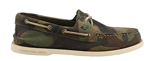 Sperry Herren A/O 2-Eye Leather Bootsschuhe Grün (Moss Green)