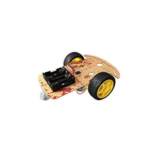 ViewTek CR0010 Kit Smart Car Chassis pour Arduino – Moteur intelligent Robot Car - 2 tachymètres roues motrices – vitesse rapide – KIT DYI pour Arduino