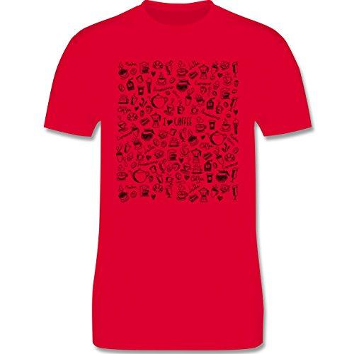 Statement Shirts - Kaffee Scribble - Herren Premium T-Shirt Rot
