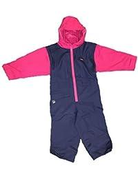 Togz hochwertiger Kinder Regenanzug Overall, Navy Blau / Himbeere, Gr.120