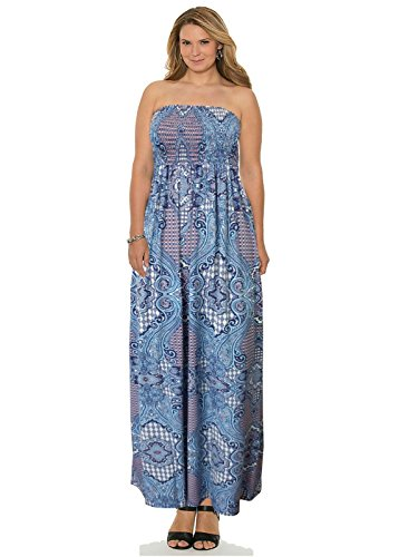 Unknown Damen Kleid Kleid Blue Paisley