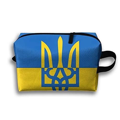 Bandera ucraniana Aseo portátil Bolsa de cosméticos...