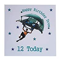 Personalised Computer Gaming Happy Birthday Greeting Card Age Name - glider- pc xbox ps4 - handmade & bespoke