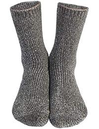 MoGist Mujer Calcetines Minimalist Monótono Plus Terciopelo Espesante Larga de Calcetines térmicos Cómodo hogar algodón Calcetines