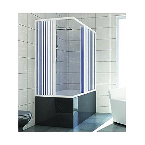 Baignoire 150 X 70 - Pare baignoire douche en Plastique PVC mod.