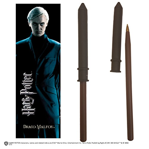 Noble Collection Draco Malfoy Wand Pen and Bookmark (Draco Zauberstab Malfoy)