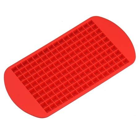 LyrbeibeiSmall Eiswürfelform Quadratische Form Silikon Eiswürfelschale Obst Eiswürfel Maker Bar Küche Zubehör Rot