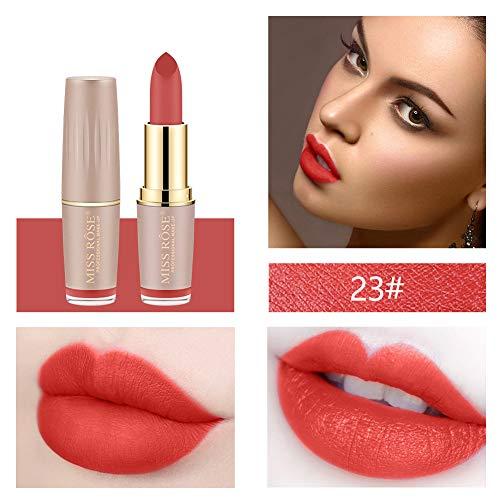 TTLOVE Matte Lippenstift,Miss Rose Gold Tube Mouth Red Brick Rot Tante Lipstick Ist Soft Sensation...