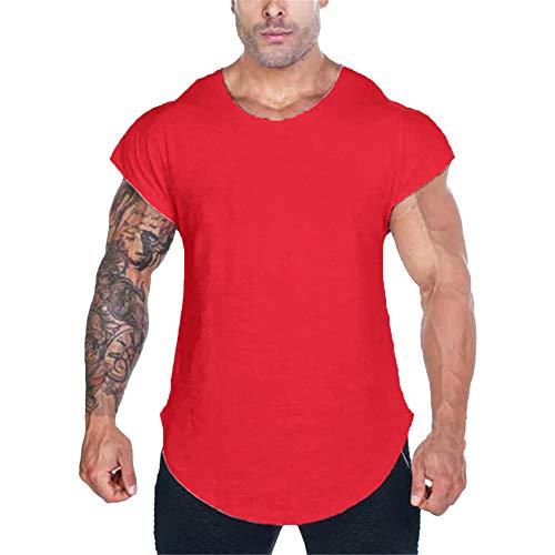 Fenverk Herren Fitness Shape Shirt Figur Formend Training Achselshirts Weste Sauna Schwitzeffekt Tank Top Stark Gym Bodyshape Mit Breit TräGer(Rot 2,XXL) - Herren Fun Print Boxer