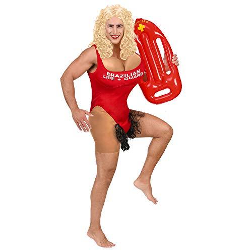 David Kostüm Hasselhoff - Widmann - Brasilianische Bademeisterin Overall mit großen Brüsten und Beharrung