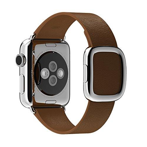 Apple Modern Buckle Smart Watch - Apple 38mm Modern Buckle Smart Watch Band - Brown, MJ542ZM/A