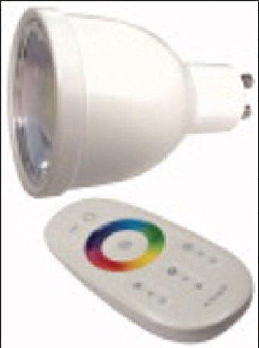 ELCART Lampe LED dimmbar RGB GU105W mit Fernbedienung 5w Marine