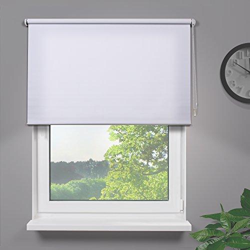 Fensterdecor Fertig Sichtschutzrollo / Weiß 180 x 180 cm (BxH)