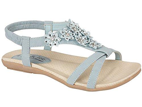 Jo & Joe Mädchen Damen Slingback Sandalen, Gr.-8 UK/ 41 EU,Hellblau (Flats Shoes Damen Peep-toe)