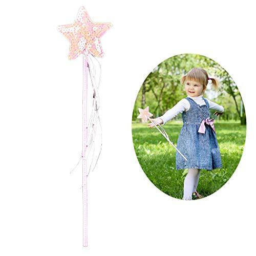 Joyibay Kinder Prinzessin Zauberstab Stern Herz Kronenmagie Fee Zauberstab Kostüm (Sterne En Kostüm)
