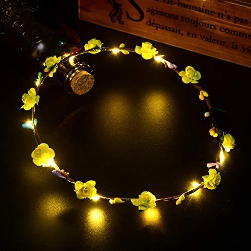 (Mitlfuny Karnevalsparty Fancy Festival Zubehör,EL LED Club Party Konzert leuchten hell hell leuchtenden Haarband flexibel)