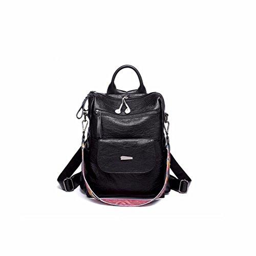 retro - multifunktionale rucksack lady,brown schwarz