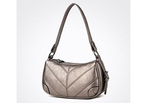 messenger bag Madre, il nuovo sacchetto femminile di mezza età, borse a tracolla signore di modo, ad alta capacità pacchetto diagonale Bronze