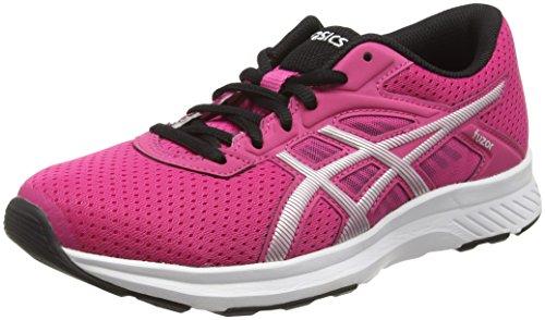 Asics Fuzor, Zapatillas de Running para Mujer, Rosa (Pink/silver/black), 37.5 EU