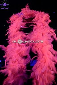 UV Floor 3700817008301 - Boa de plumas, color rosa fluorescente