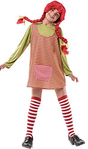 Costume da Pippi Calzelunghe a Righe per bambina P2-(6/7 anni)