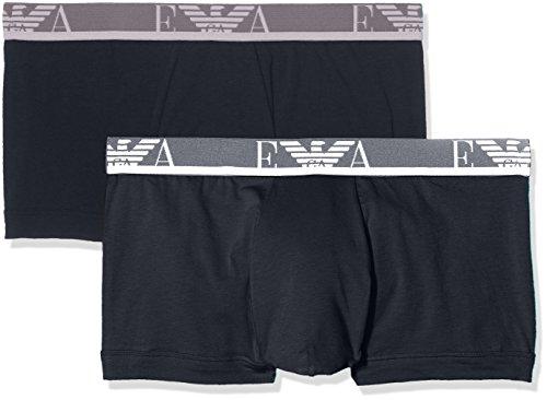 Emporio Armani Underwear 1112107P715, Calzoncillos Para Hombre, Azul (Marine/Marine 27435), X-Large, Pack de 2