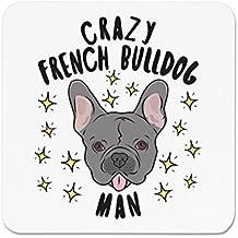 Crazy bulldog francés Muñeco estrellas Imán de Nevera