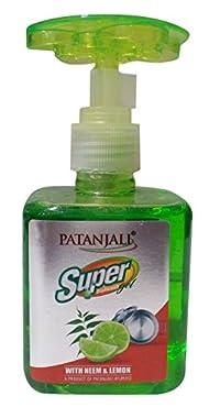 Patanjali Super Dish Wash Gel - Neem & Lemon, 200ml Bottle