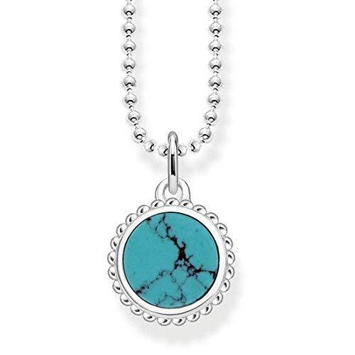 Thomas Sabo Damen-Halskette Glam & Soul Türkis 925 Sterling Silber 45 cm KE1762-404-17-L45v