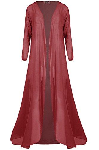 Be Jealous - Gilet - Manches Longues - Femme * taille unique Bordeaux