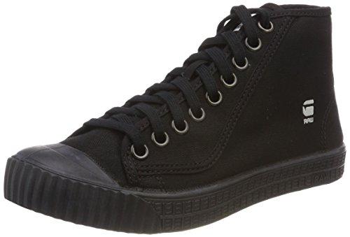 G-STAR RAW Damen Rovulc Denim Mid Sneakers Sneaker, Schwarz (Black 990), 39 EU Mid Sneaker