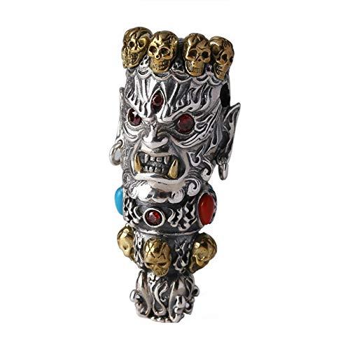 SonMo Halskette Herren Sterling Silber Kette Anhänger 333 Gold Silber Kette mit Anhänger Herren Kette Herz Und Schleifen
