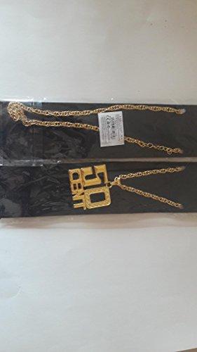50 Cent Kette, Kostüm, Party, Halloween, Kostüm, Schmuck. Rapper. (Gefälschte Gold Ketten Kostüm)