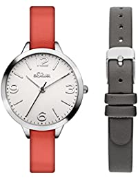 s.Oliver Damen-Armbanduhr mit Wechselband SO-3239-LQ