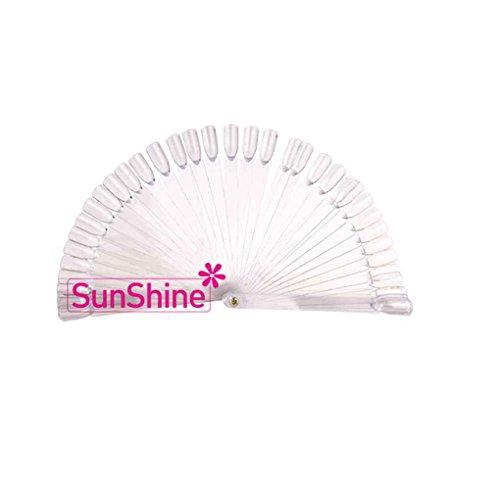 LUFA 50 STÜCKE Fan Nagellack Farbe Platte Praktische Gel Dekoration Nagel Farbe Karte Vorlage Maniküre Werkzeuge