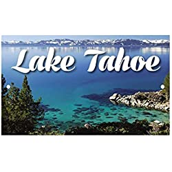 Tin Sign Fashion Metal Auminum SignPlace Lake Tahoe Wall Plaque for Indoor Outdoor 7.8x11.8 inch