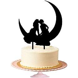 Figura tarta chicas en la luna
