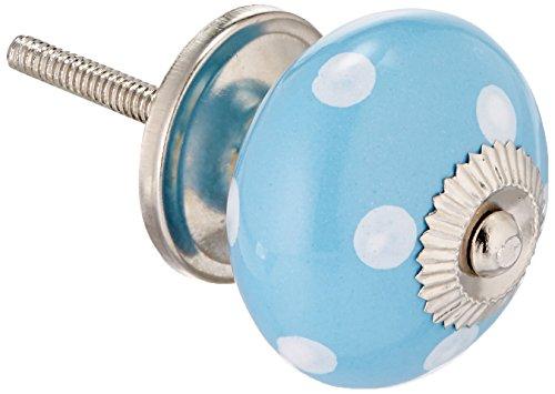 Darice–Plantilla para Grabar Patrimonio Azul de Lunares, Hardware pomo de cerámica, acrílico,, 3Piezas