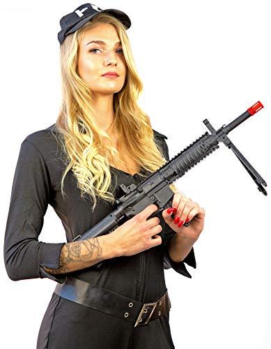 Nick and Ben Softair-Gewehr leichtes Maschinengewehr mit Zweibein Spielzeug-Waffe Federdruck max. 0,5 Joule im Set mit 6 mm BB Kugeln