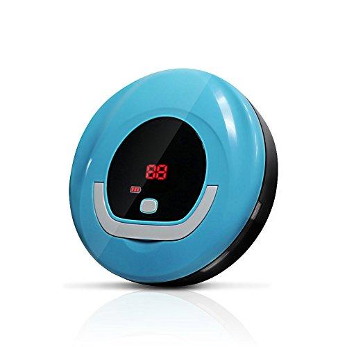 Evertop Saugroboter Verion I Staubsauger Roboter mit geringer Lautstärke, Ecke Bürste, 2 Timer, 3 Std. Laufzeit, LED Anzeige(Blau)